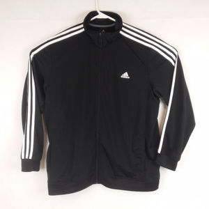 Adidas Men's 2XL Polyester Full Zip Track Jacket